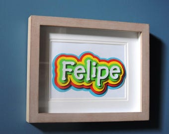 Name baby or child's personalized 3D frame