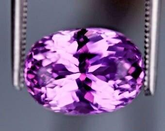 FL, 5.30ct,Ovel shape Purple color Kunzite from Afghanistan.
