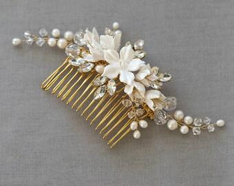 HARPER | Bridal Comb, Wedding headpiece, Bridal Headpiece, Wedding Comb, headpiece, bridal hair accessories, wedding hair accessories