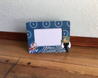 Picture Frame-OOAK-White Rabbit Disney inspired, Alice in Wonderland, housewares, photo frame