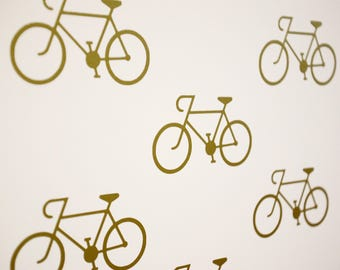 Road Bike Cyclist Vinyl Wall Art Decals/Stickers - Various Colours & Sizes