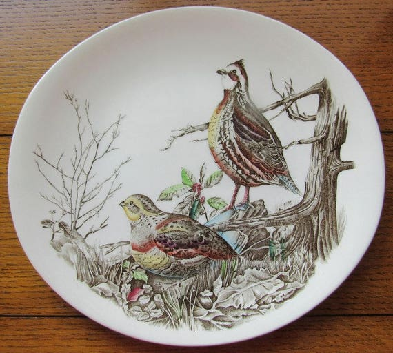 Quail Game Bird Oval Dinner Plate Johnson Bros England