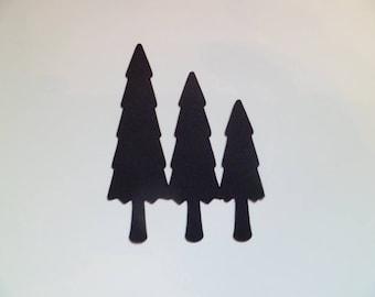 Die Cut Triple Christmas Trees x10