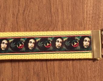 Bob Marley Key Chain Zipper Pull Wristlet