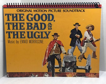 The Good, The Bad, & The Ugly Album Cover Notebook Handmade Spiral Journal