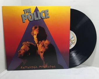 The Police Zenyatta Mondatta vinyl record 1980 VG+ Pop Rock