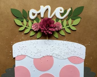 Blooming Cake Topper