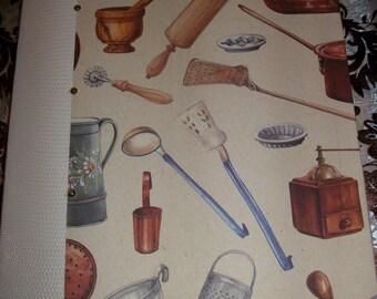 Culinary repertoire or recipe book