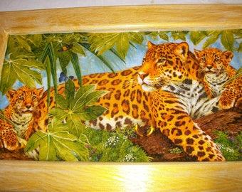 Large Leopard family frame