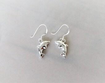 Sterling Silver Dolphin Earrings.