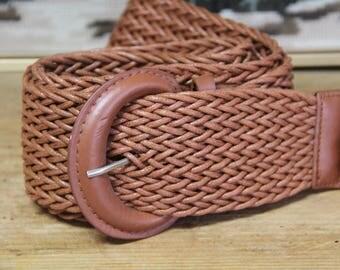 VintageTan PVC belt
