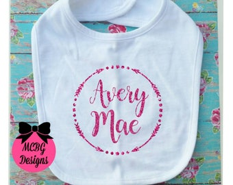 Personalized Baby Bib•Baby Shower Gifts•Newborn Baby Gifts•Baby Hospital Gifts•Baby Items•Baby Girl Gifts•Baby Girl Bibs•Baby Girl