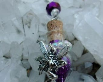 Purple Fairy Teardrop Pendant