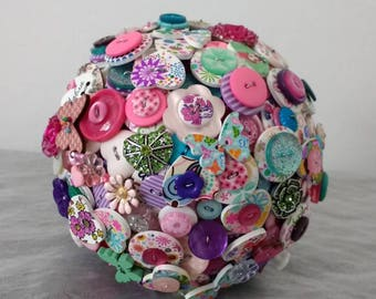Beautiful Wooden Button Bouquet...