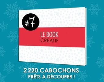 Le BOOK Créatif #7 Livre planches d images imprimées 2220 cabochons à découper cabochon bijoux revue papier qualité dechire fete mamie