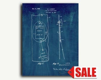 Patent Print - Ski Lift Ticket Holder Patent Wall Art Poster