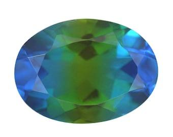 Blue Nile Triplet Quartz Loose Gemstone Oval Cut 1A Quality 16x12mm TGW 7.15 cts.