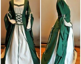 Medieval Dress, Custom Made, Renaissance Gown, Renfaire LARP, Fantasy Dress Handfasting