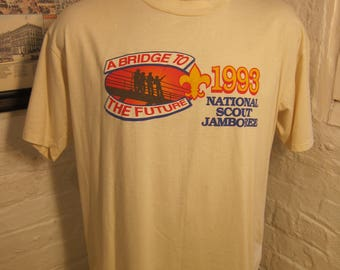 Size XL (48) ** S 1993 National Boy's Scouts National Jamboree Shirt (Single Sided)