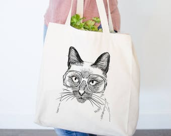Sasha the Siamese Cat Tote Bag