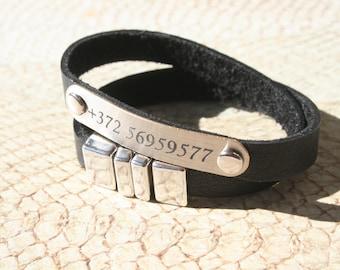 NEW! Children ID Bracelet / Children Identification Bracelet / Kids ID Bracelet with Mobile Number