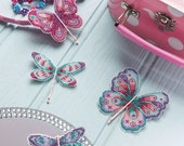 Butterfly and Dragonfly Cross Stitch Hair Slides Pattern