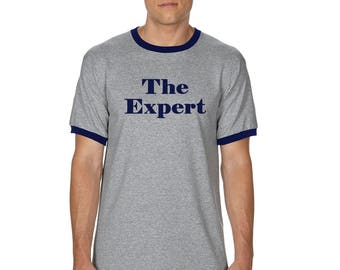 The Expert T-Shirt - Barron Trump Ringer Shirt