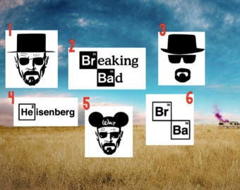 Breaking Bad Decal - Walter White Decal - Heisenberg Decal - Breaking Bad Car Decal
