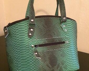Faux snake skin Lola handbag
