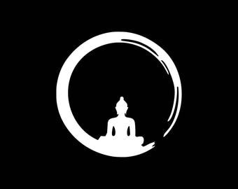 Meditation Decal Meditate Car Decal Meditation Sticker Vinyl Decal Yeti Cooler Tumbler Wall Window Tablet Phone Laptop Buddha Buddhist