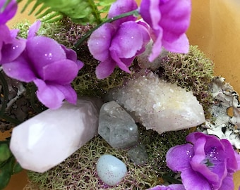 Crystal and Moss Terrarium