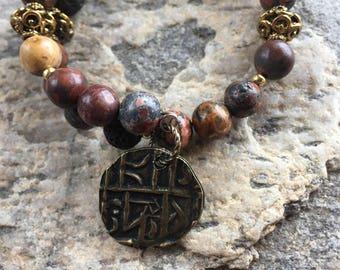 Memory wire bracelet, Lava bead bracelet, Diffuser Bracelet, Charm bracelet, Bangle, Elephant bracelet,Boho bracelet,Aromatherapy