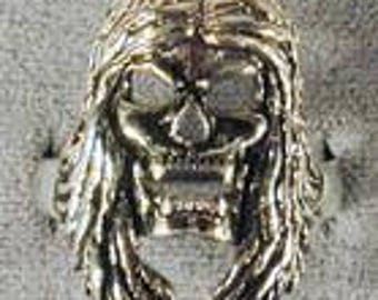 Skull Ring With Long Hair