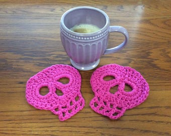 Skull Coaster Set/ Mug Rugs