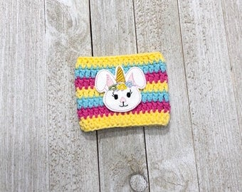 Easter cup sleeve - cup cozy - cozies - cup sleeves - coffee - Rabbit cozy - Easter Bunny - Unicorn Bunny
