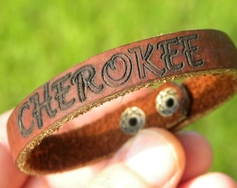 CHEROKEE peace Bracelets broken arrow Buffalo Bison Leather tribal cuff wristband Native Indian style customize  handcrafted