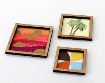 Set of 3 Miniature Artworks - Tiny Tropics Collection