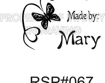 Personalized - Made by - Rubber Stamp #67