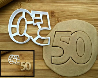 Number 50 Cookie Cutter/Multi-Size