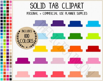 SALE 100 TAB clipart rainbow tab stickers printable planner divider colorful planner tabs blank planner tabs blank divider bright stickers
