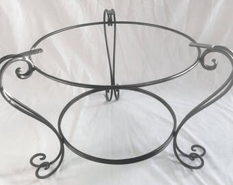 H Handmade Black Wrought Iron Coffee Table Base Suitable For 24in. To 36in