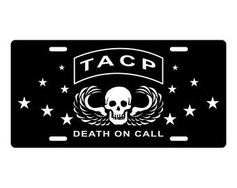 TACP Tactical Air Control License Plate