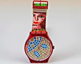 "Vintage swatch ""Ravenna"" from 1990, new battery!"