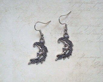 Earrings Moon silver