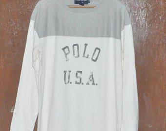 Vintage Polo USA Polo Sport Ralph Lauren Two Tone Color Sweatshirt Sweater