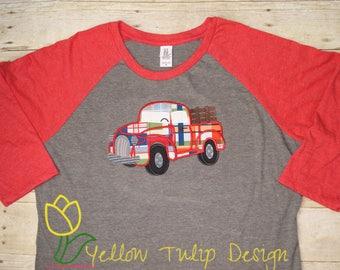 Vintage Truck 3/4 Sleeve Raglan Women's T-shirt