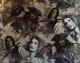 Cotton Fabric by the 1/4 Yard - Pirates of the Caribbean Cotton