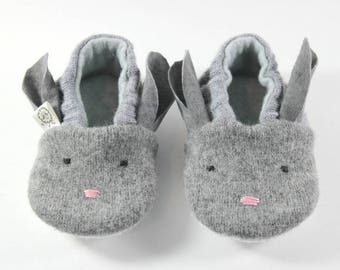 Toddler Valentine Gift- Easter Gift- Toddler Slippers- Bunny Slippers- Baby Shoes- Bunny Outfit- Bunny Shoes- Rabbit Shoes- Bunny Ears