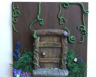 Fairy Portal (floral/vines background)