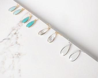 Simple Drop Earrings, Gold Bridal Earrings, Beauty Gift , Gift For Mom, Classic Teardrop Earrings, Bridesmaids Earrings